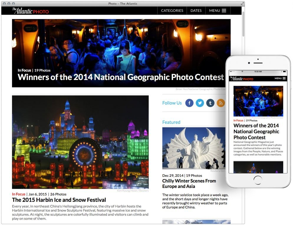 The Atlantic's Relaunched Photo Channel Won't Punish People With Small Screens