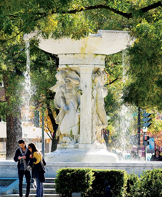 Dupont Circle proper, the traffic circle/park that defines the neighborhood, is a good people-watching spot. Photograph by Philip Scalia/Alamy.
