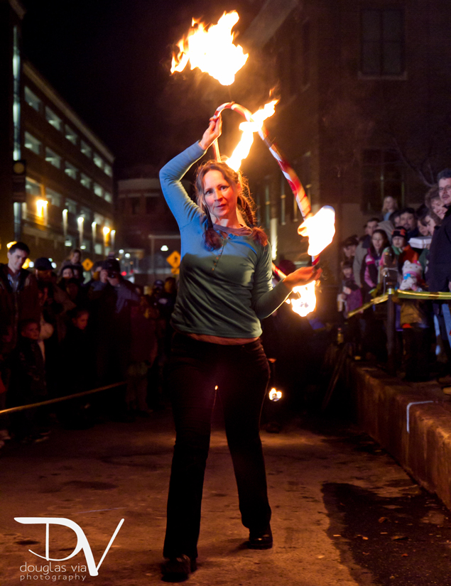Fire Dancing and Ice Carving Meet–Finally!–this Saturday in Frederick