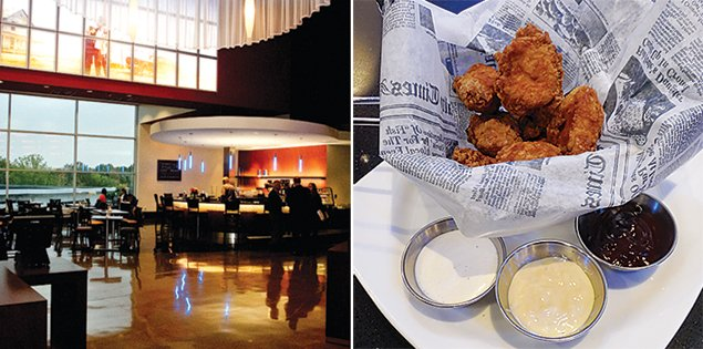 Photograph of Arclight Cinemas and popcorn chicken courtesy of ArcLight Cinemas.