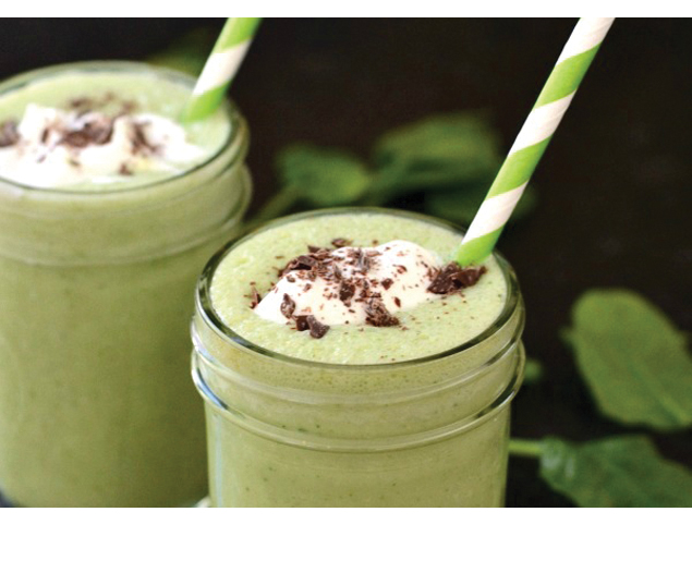Delicious and Healthy Peppermint St. Patrick's Day Smoothie