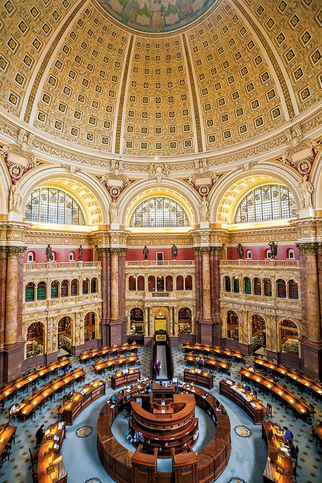 Library Of Congress Main Reading Room Washingtonian