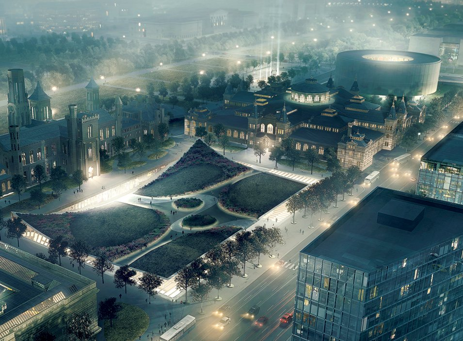 Two Crazy Visions of the National Mall in 2050