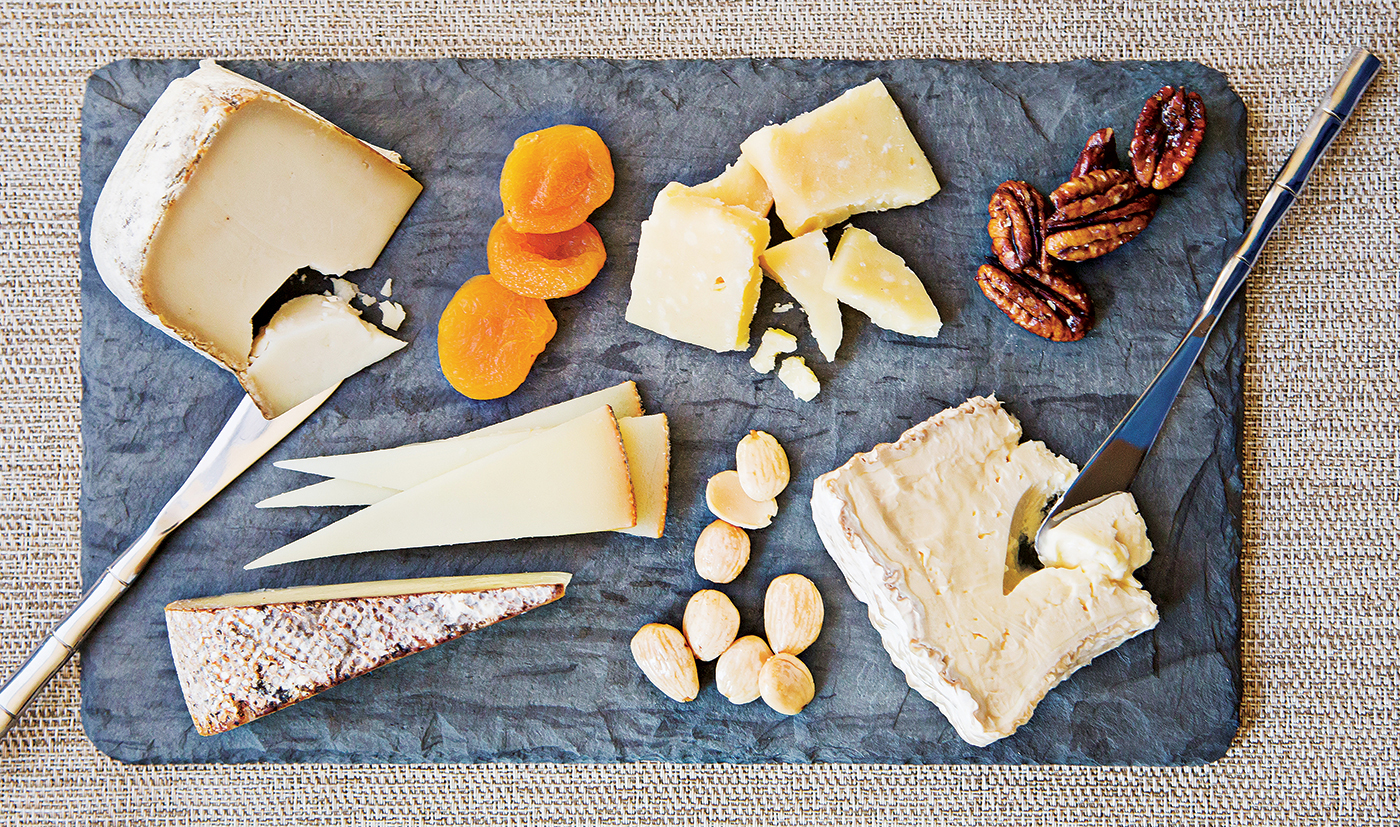 Photograph of cheese platter by Scott Suchman