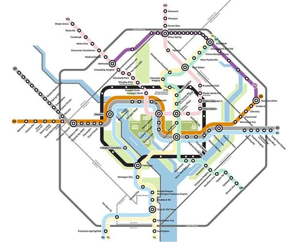 Wash Dc Metro Subway Map.6 Transportation Projects That Could Change Washington