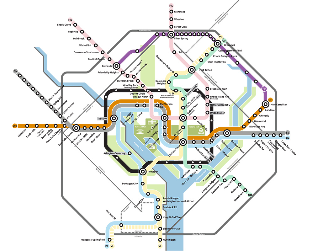 Real Dc Subway Map.6 Transportation Projects That Could Change Washington