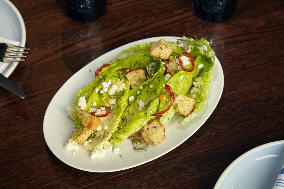 Recipe: Greek Caesar Salad from Kapnos Taverna