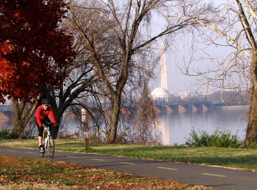 Biking the Mount Vernon Trail