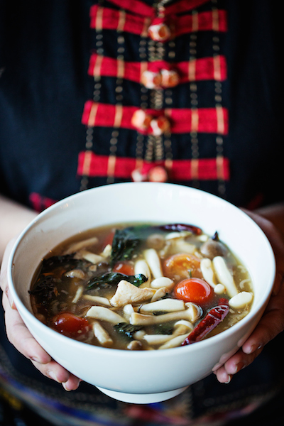 Warm up with a bowl of hot and sour soup from Thip Khao. Photograph by Scott Suchman.
