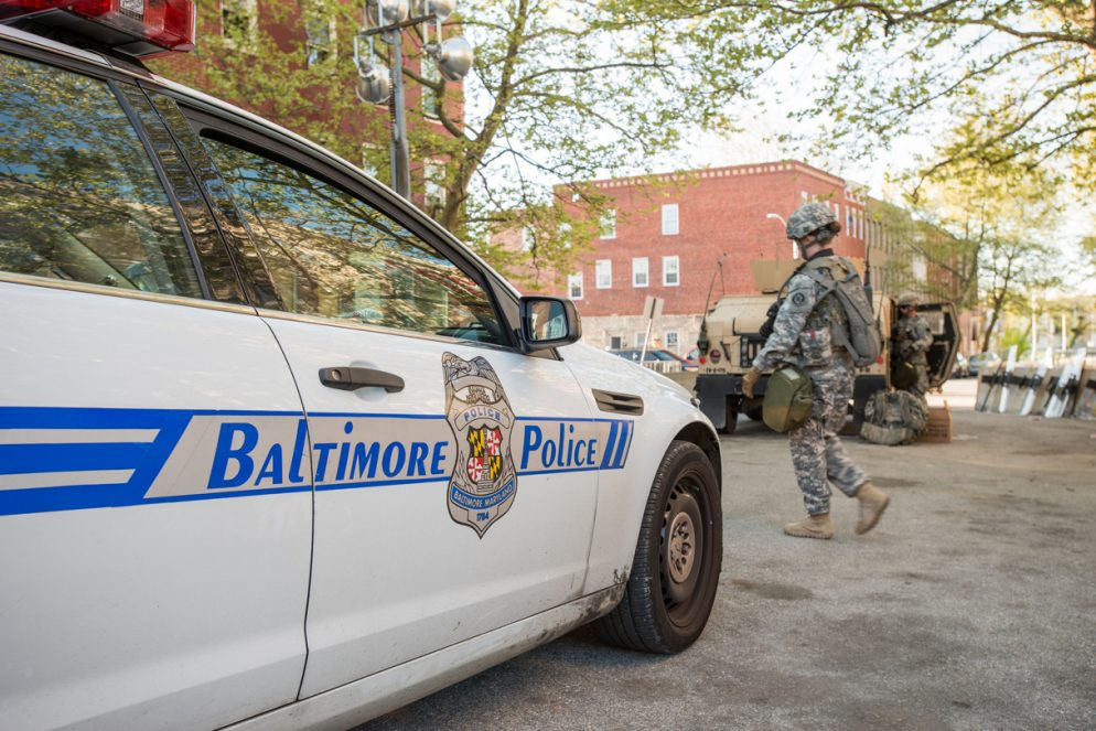 Washington Area Police Departments Send Officers to Baltimore