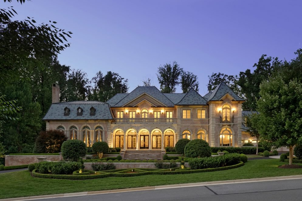 Mansion with indoor basketball court  This $12.5 Million McLean Mansion Has a Ballroom and an Indoor ...