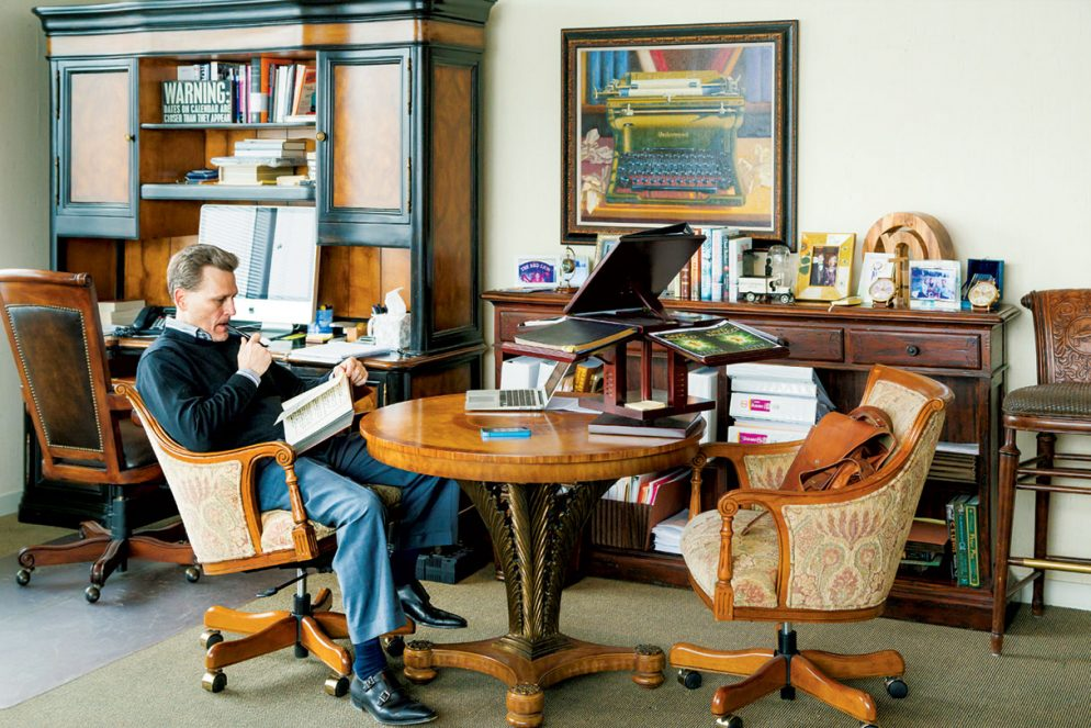 Inside the Office of a Best-Selling Author