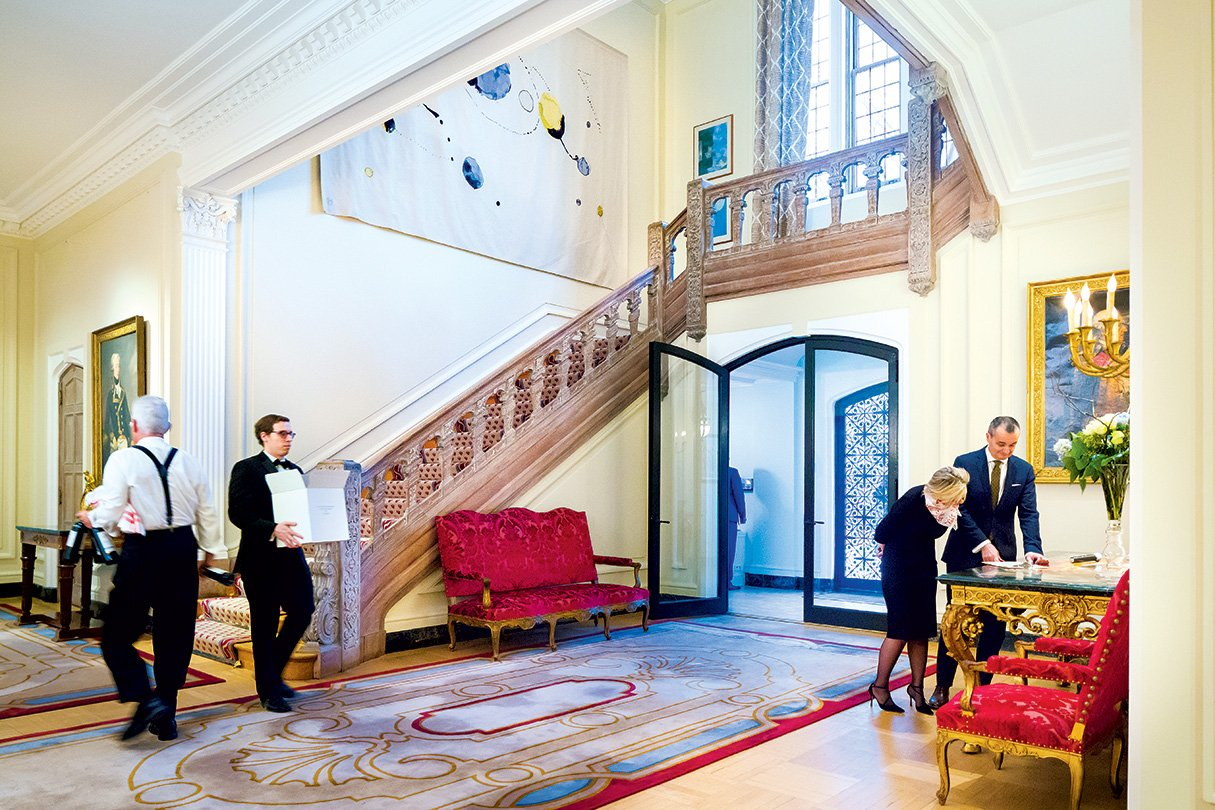 How the French Embassy Gets Ready For a Party