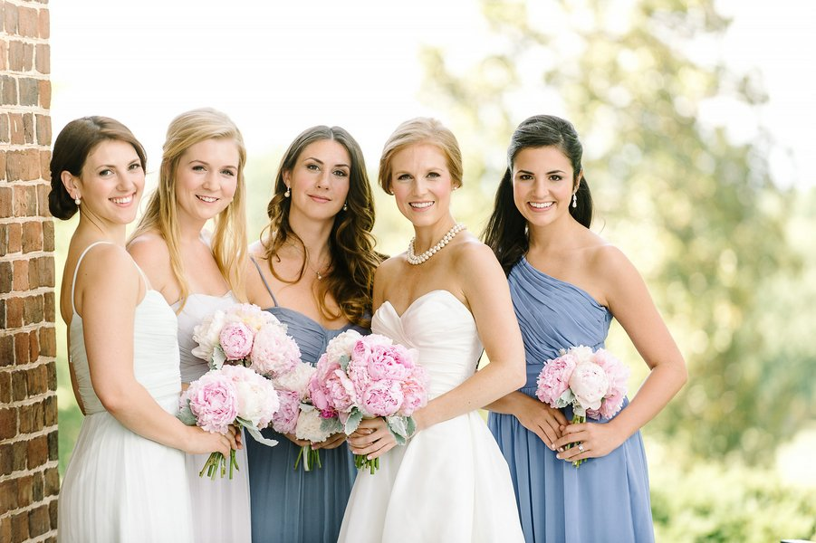 Pink and Blue Virginia Country Club Wedding