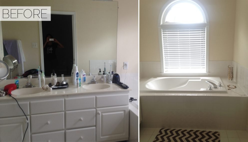 Before & After: See This Basic Bathroom Go Glam