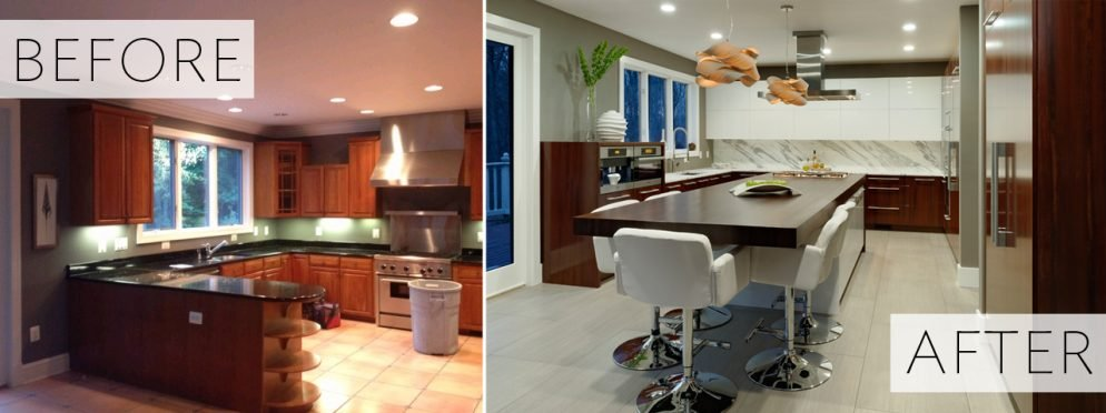 Before & After: A Basic Kitchen Gets a Warm Modern Makeover