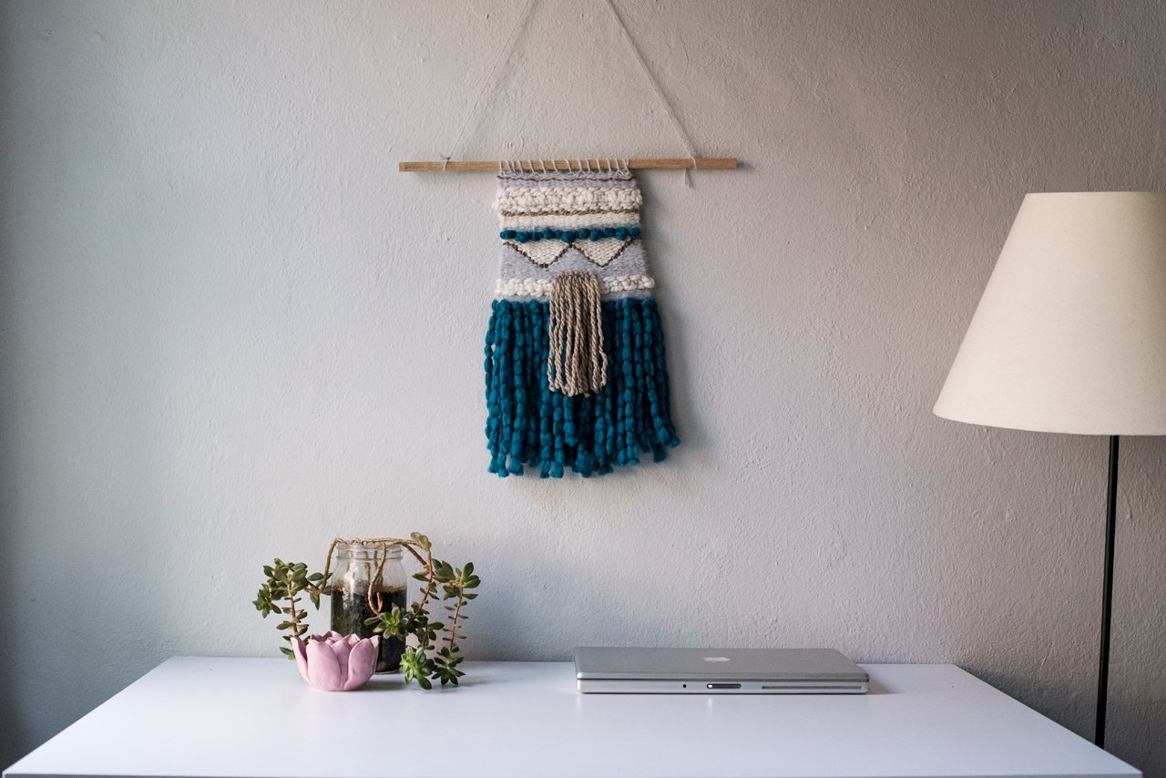 How to DIY a Woven Wall Hanging