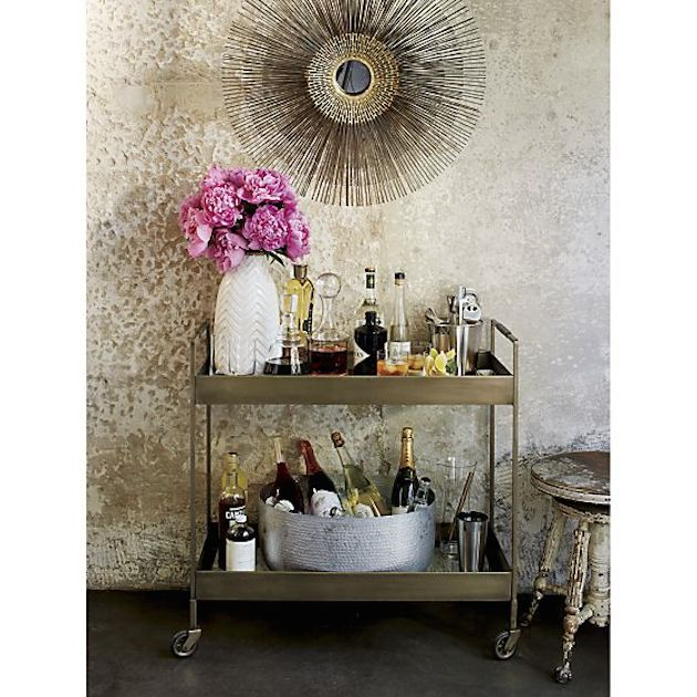 10 Stylish Bar Carts To Upgrade Your Cocktail Hour