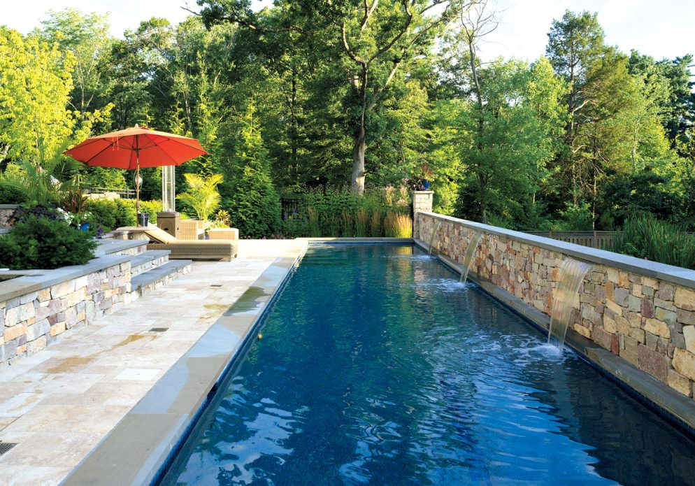 This Alexandria Backyard Has a Lap Pool