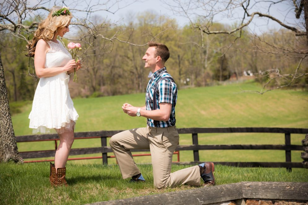 This Groom-to-be Proposed During Their Engagement Photo Shoot