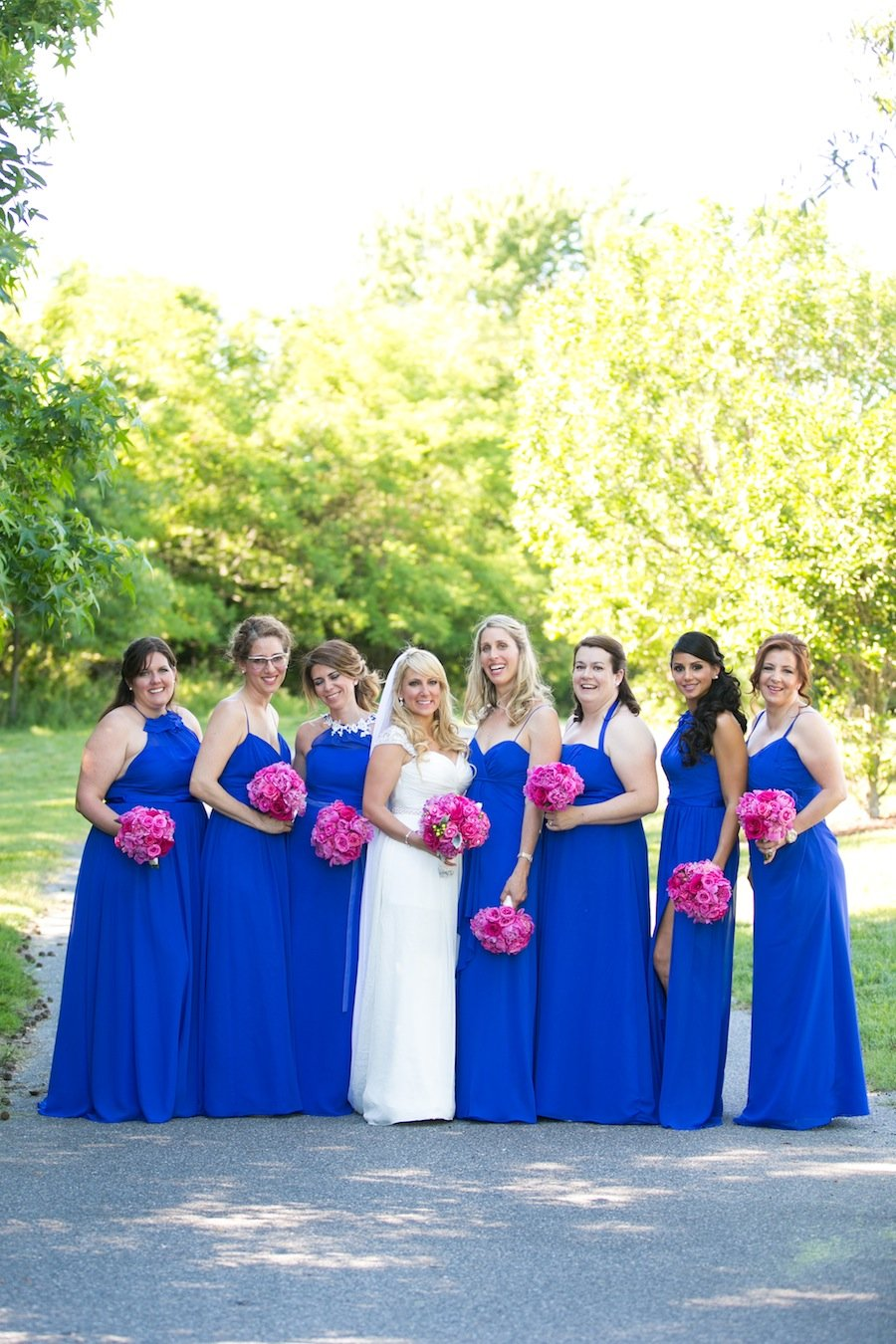 Nautical pink and blue eastern shore wedding washingtonian their wedding on june 7 2014 was filled with nods to their nautical venue from the anchors printed on terrys socks to the life preservers used to ombrellifo Image collections
