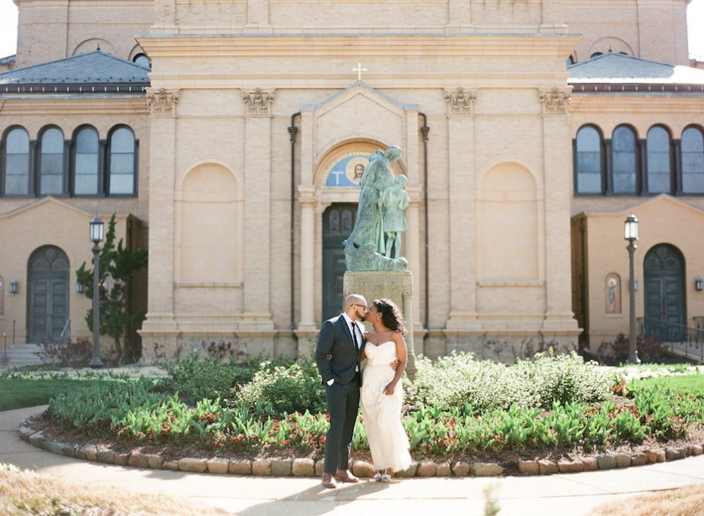 Engagement Photo Session in a Monastery Courtyard