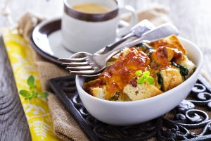 Healthy Mother's Day Brunch Recipe: Veggie, Cheddar, and Egg Strata
