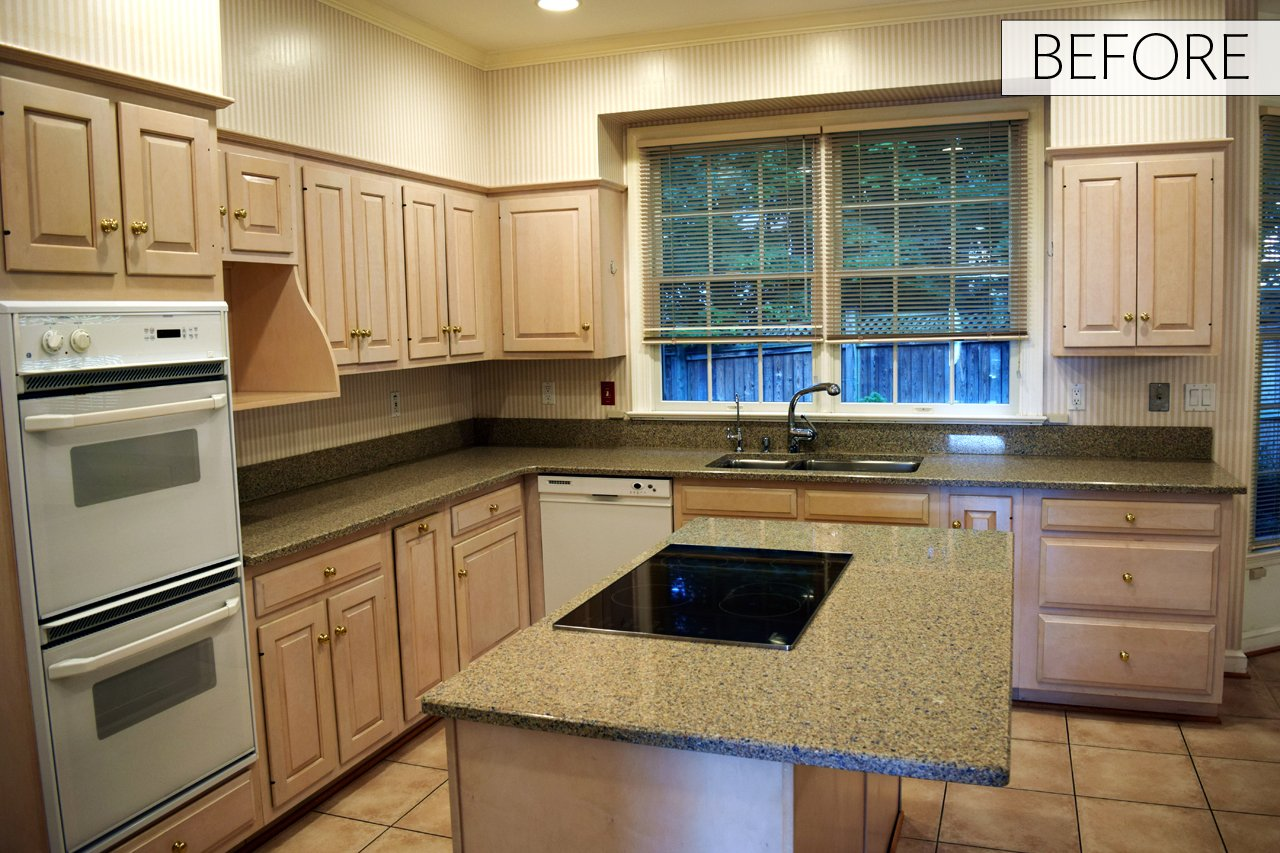 Before & After: A Dated Kitchen Turns Sleek Contemporary
