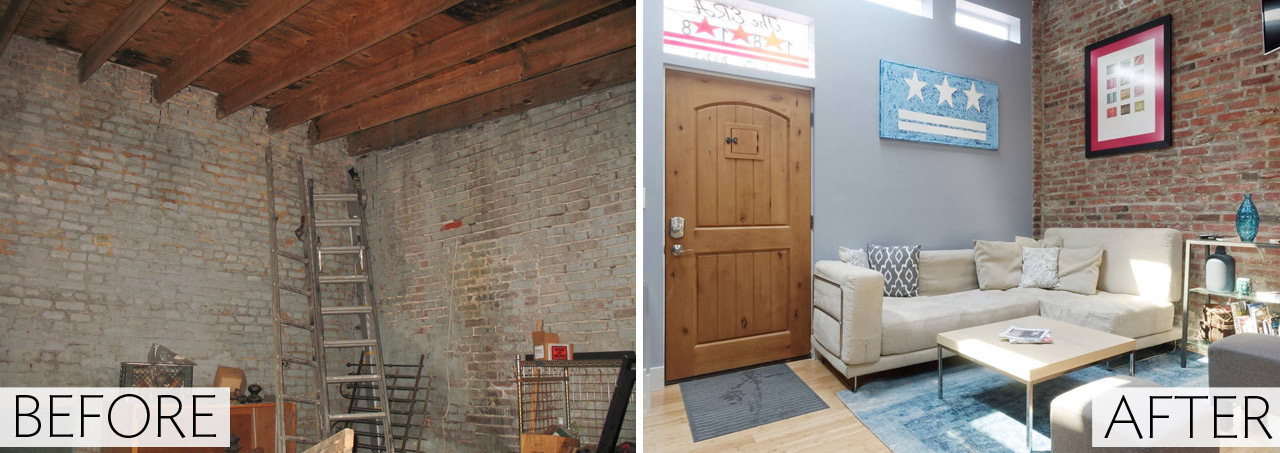 Before & After: A DIY Renovation Turns a LeDroit Park Storage Unit Into a Loft Apartment