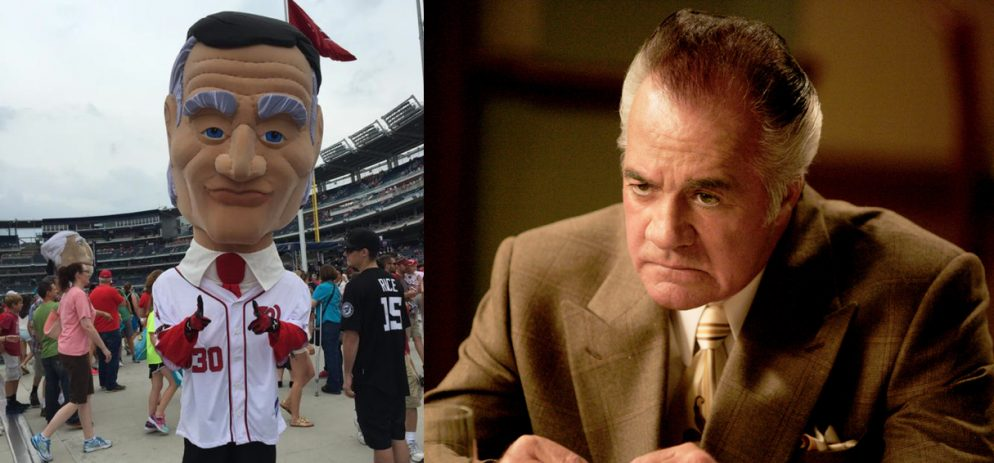 The Nationals' Calvin Coolidge Mascot Looks Like Paulie Walnuts