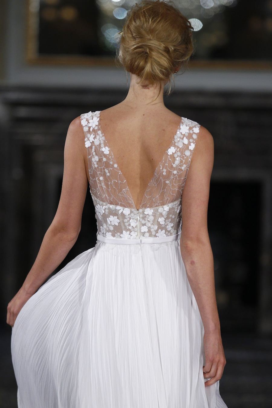 Button Back Wedding Dress 92 Awesome  Translucent bodice