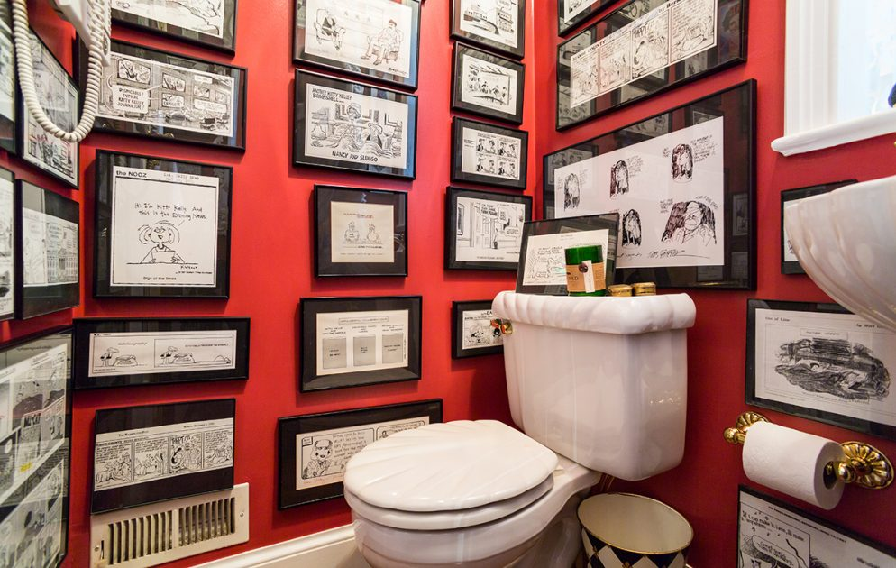 Photos: Kitty Kelley's Bathroom Is Decorated With Every Cartoon That Ever Made Fun of Her