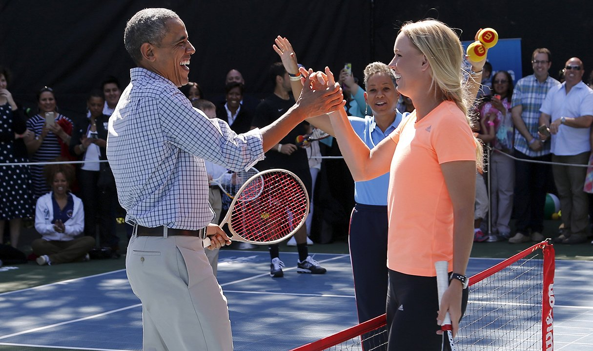 A Brief History of Presidents Playing Tennis