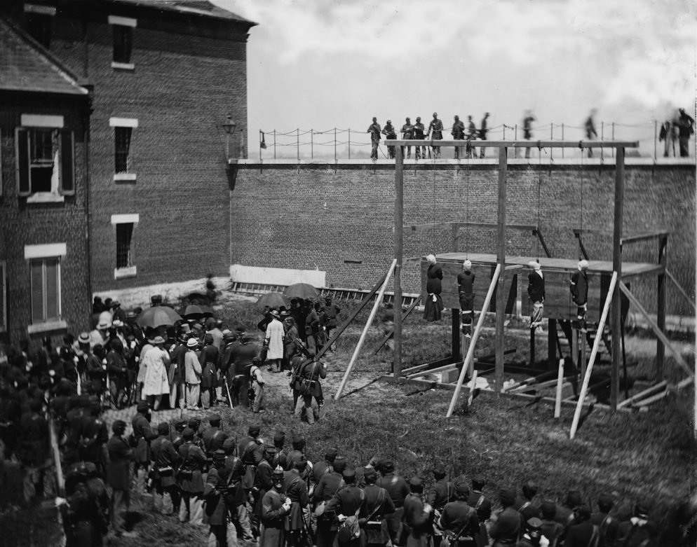 Here's Where the Lincoln Co-Conspirators Were Hanged in DC 150 Years Ago