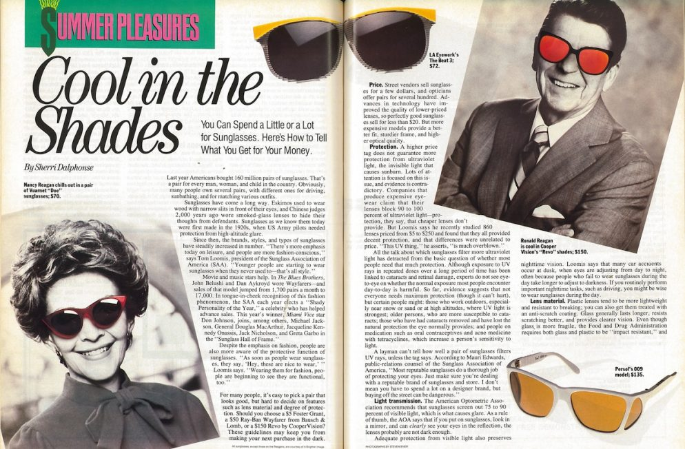 How a Simple Article About Buying Sunglasses Ticked Off the White House