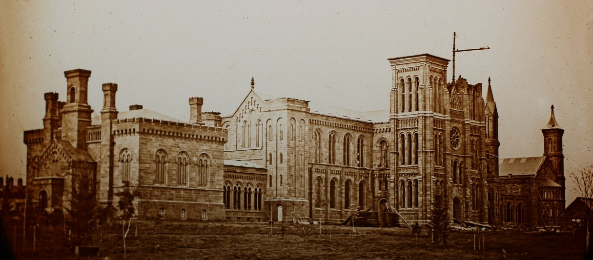Here's a Really Old Photograph of the Smithsonian Castle