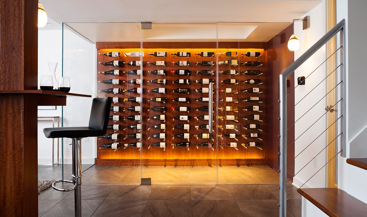 Inside a Modern, Remodeled Basement That Doubles as a Wine Cellar