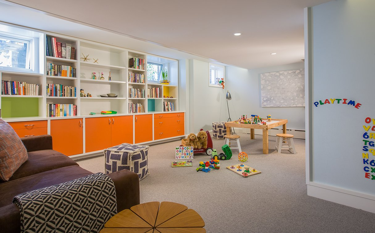 How Two Parents Redesigned a Plain Basement Into a Perfect ...