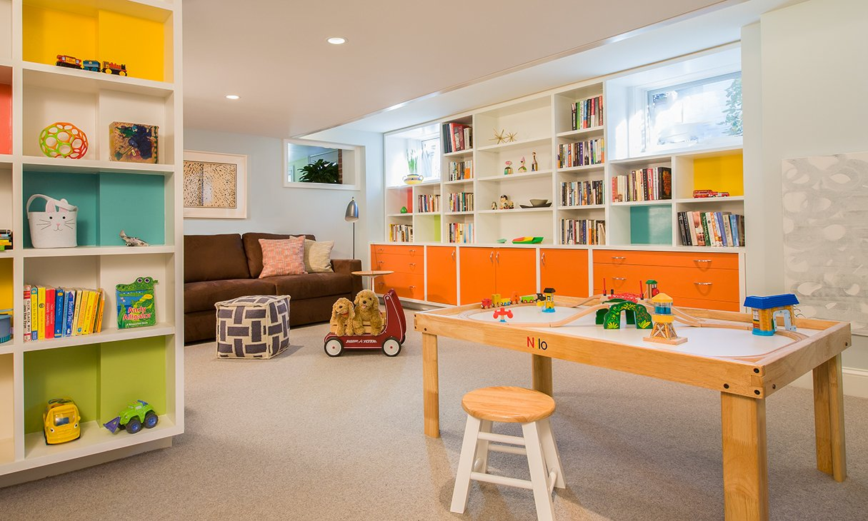 How Two Parents Redesigned a Plain Basement Into a Perfect Playroom