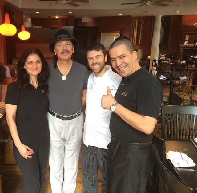 Spotted: Carlos Santana Dines at Paolo's in Georgetown