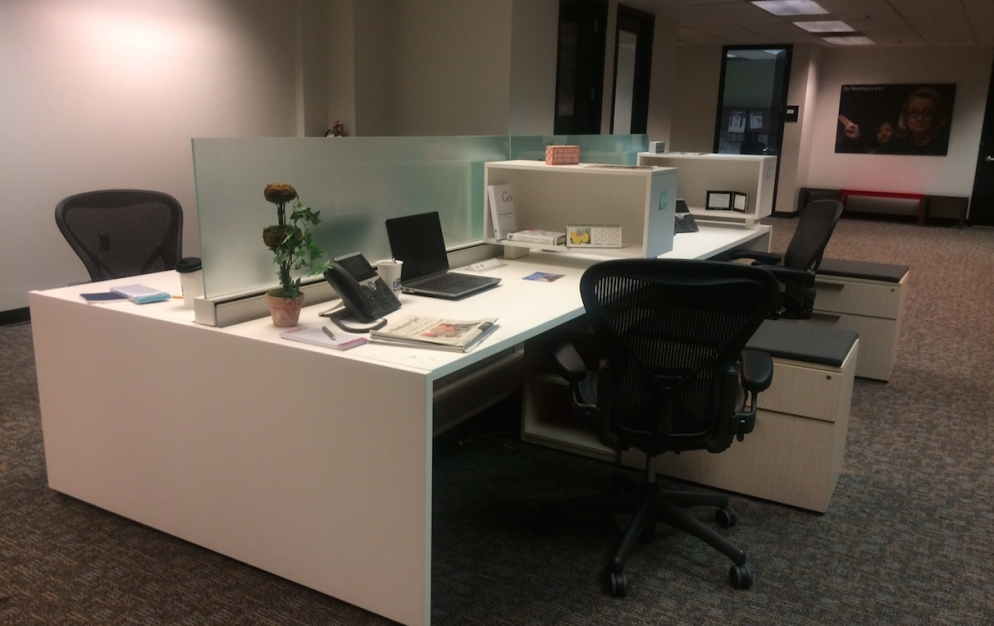 Here's What the <em>Washington Post</em>'s New Desks Will Look Like