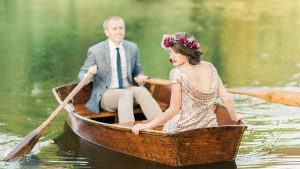 Dreamy Rowboat Engagement Photos at The Regent at the Stonehouse