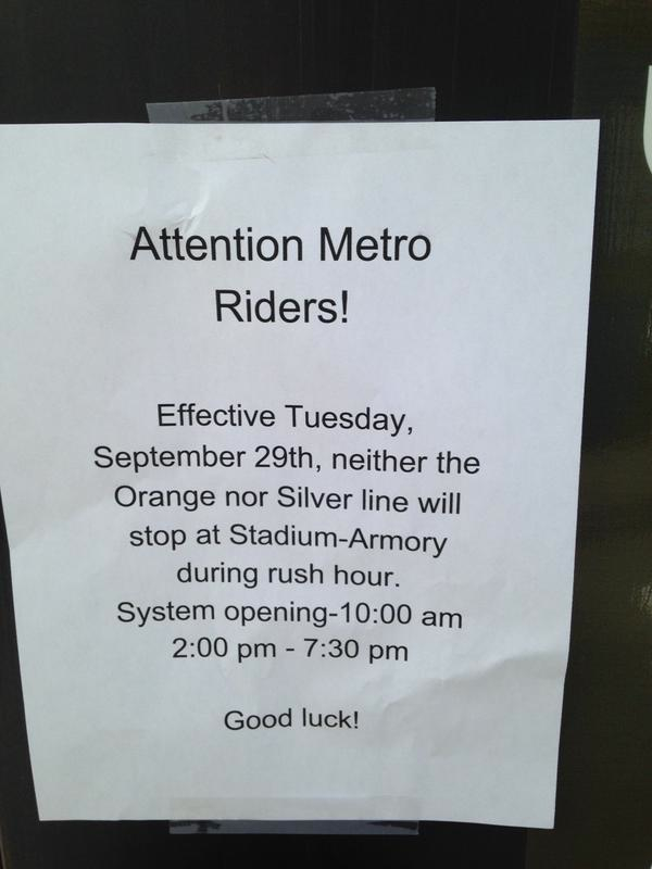 Metro Did a Bad Job Telling People About Orange and Silver Line Cuts, so This Guy Put Up Signs