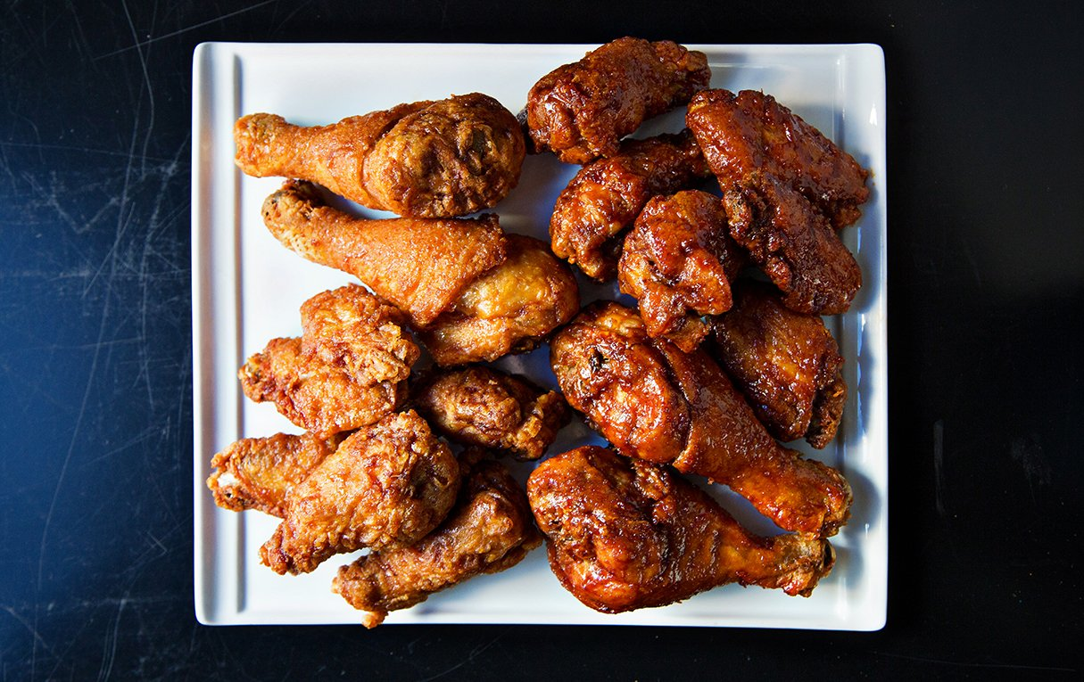 Cheap Restaurants Large Groups. Bonchon fries their birds to crispy perfection. Photograph by Scott Suchman.