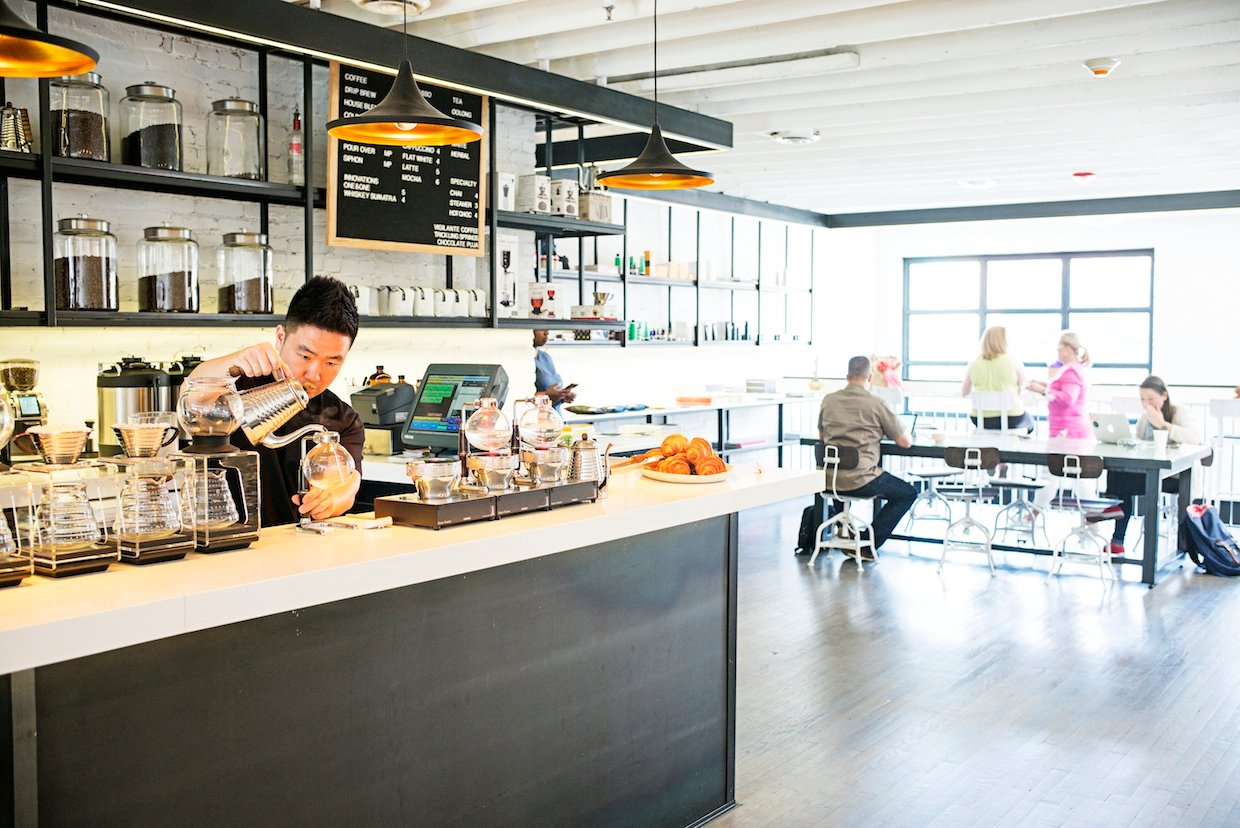 Coffee shops with wifi in DC: Spend a day working and eating at Maketto, which mixes a coffee/pastry shop, bar, and Southeast Asian restaurant--all with free wifi. Photography by Scott Suchman.