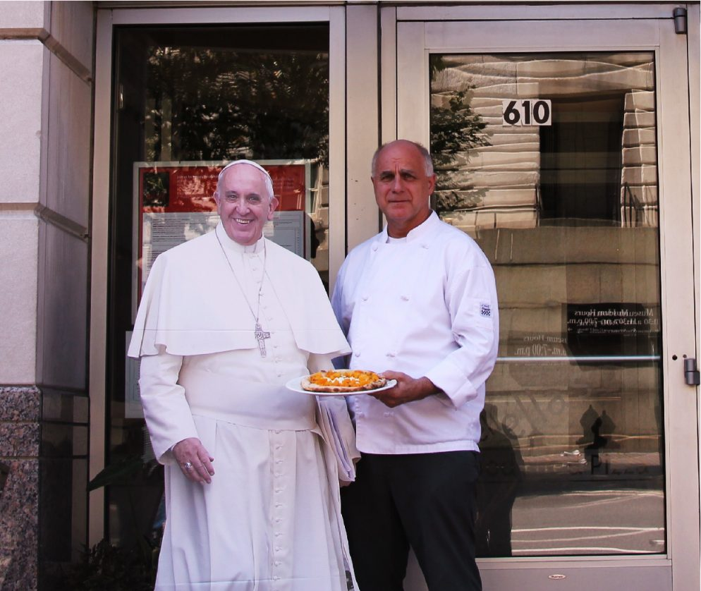 Papal-Looking Chef Will Serve the Pope's Pizza