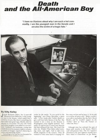 Joe Biden 1974 Profile Kitty Kelley
