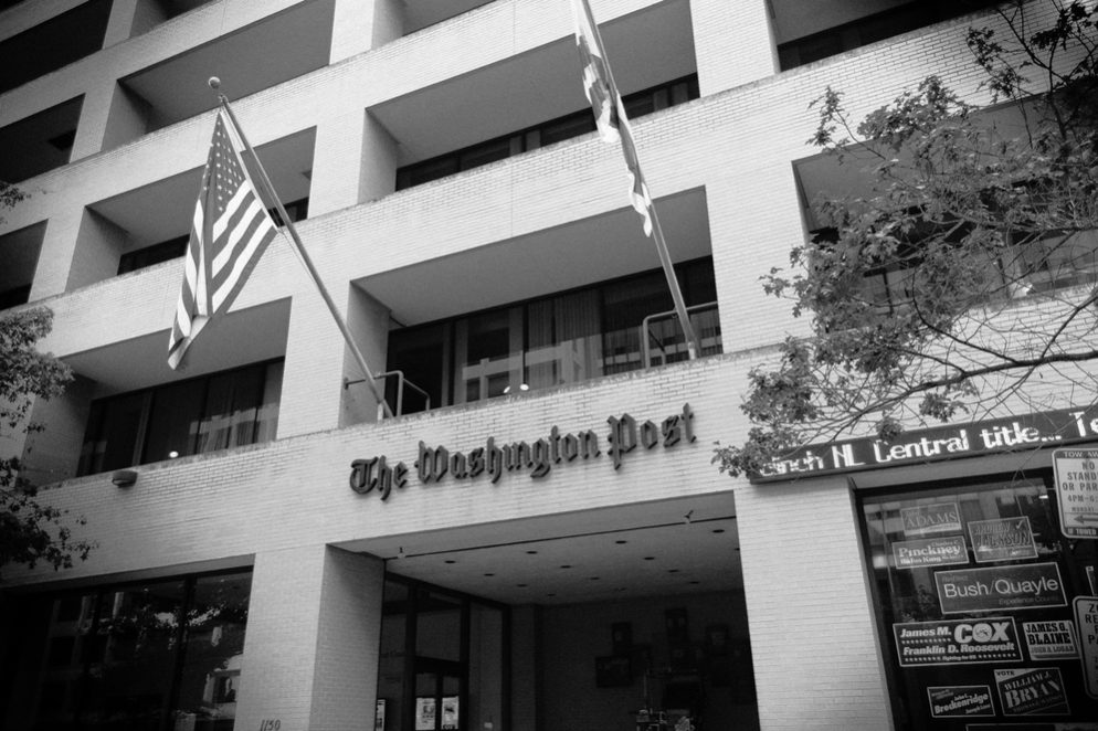 <em>Washington Post</em> Sign Will Come Down Off Old Building Tuesday
