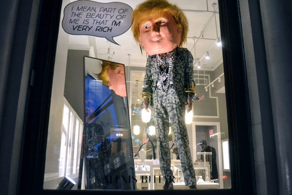 Alexis Bittar is Putting a Really Creepy Donald Trump Mannequin in Their Window