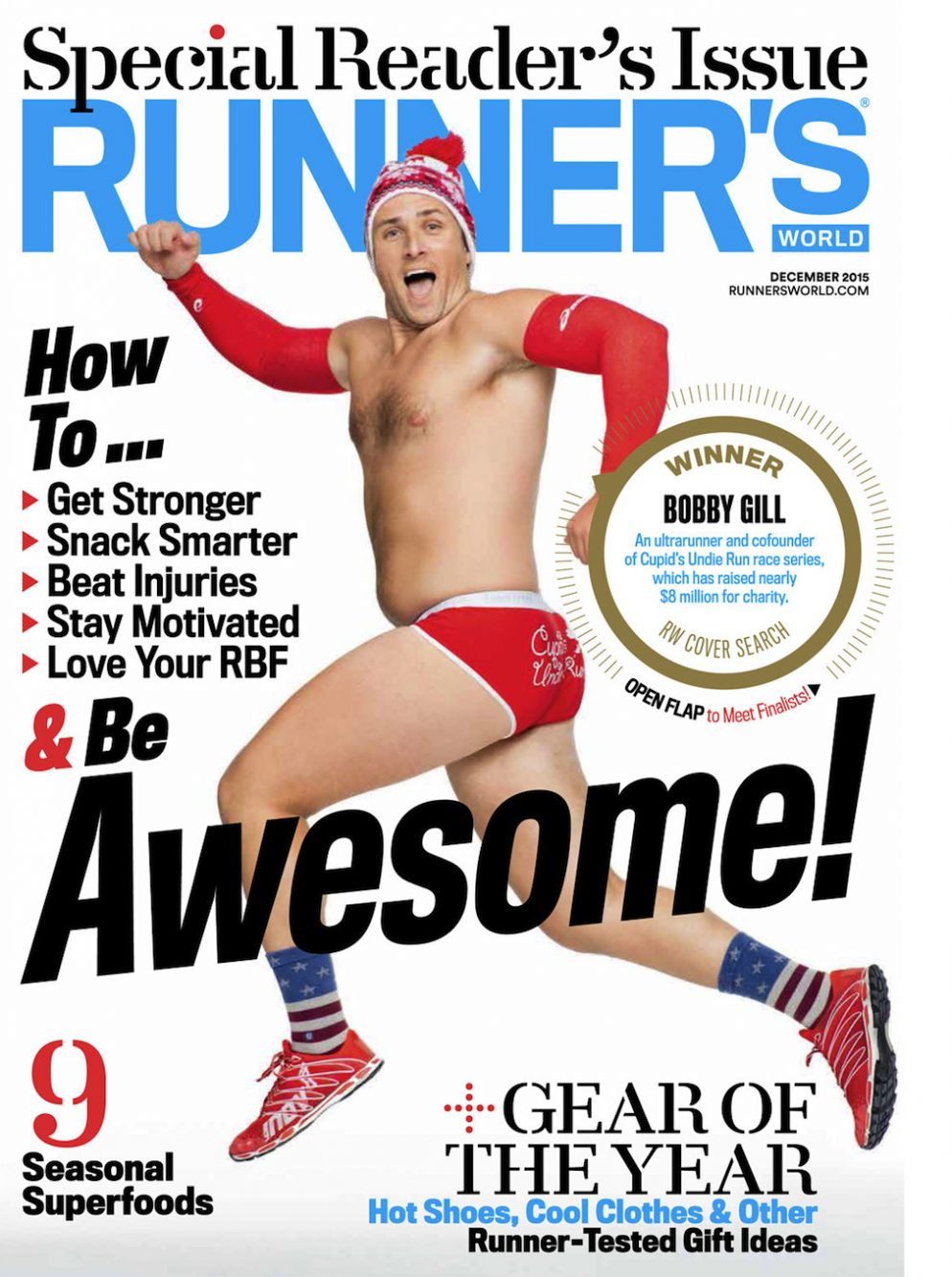 Cupid's Undie Run Co-Founder Featured on Runner's World December Cover
